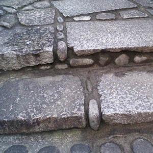 石階段の詳細