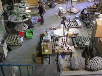 ユーロストーンの倉庫